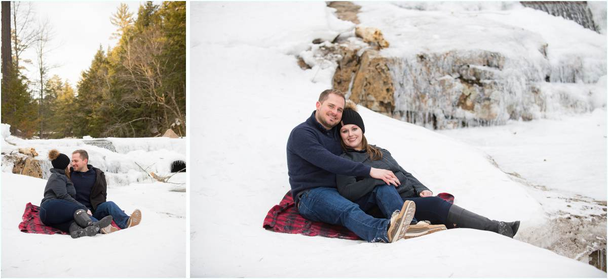 Candid winter couple's photos