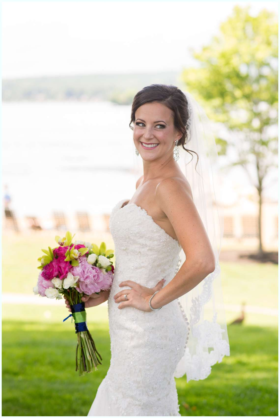 Bridal photos at the Margate Resort in New Hampshire