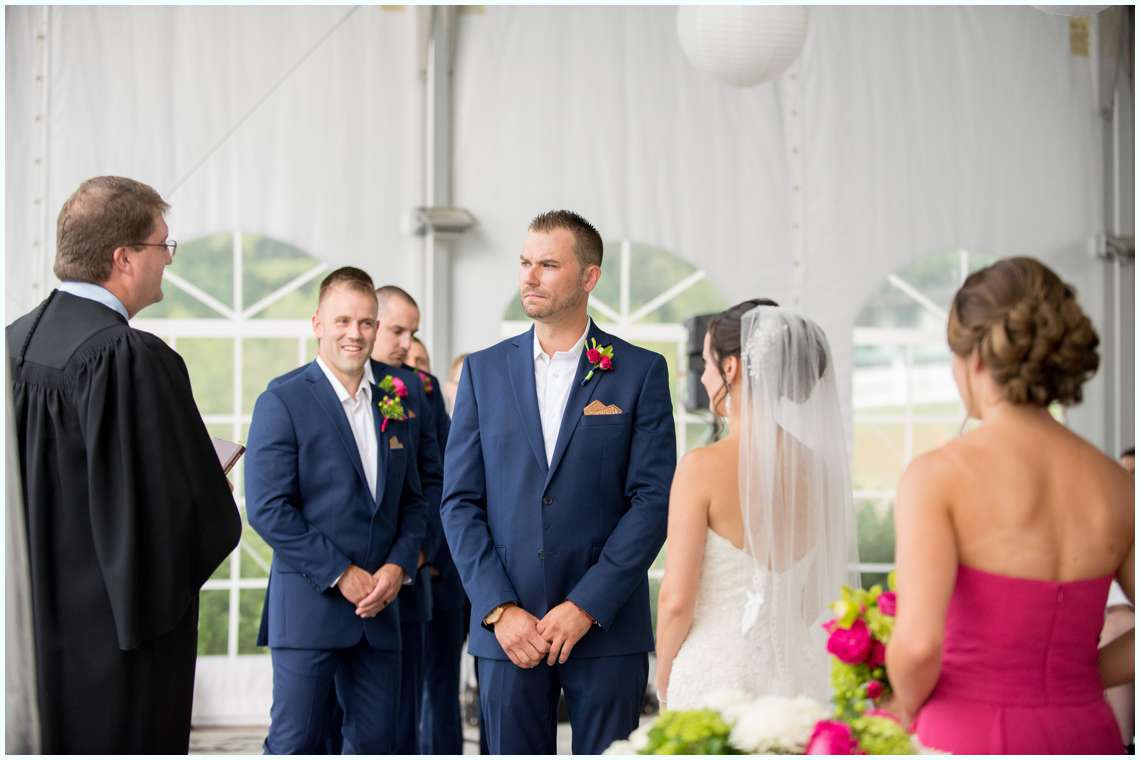 The Margate Resort Wedding ceremony under white tent