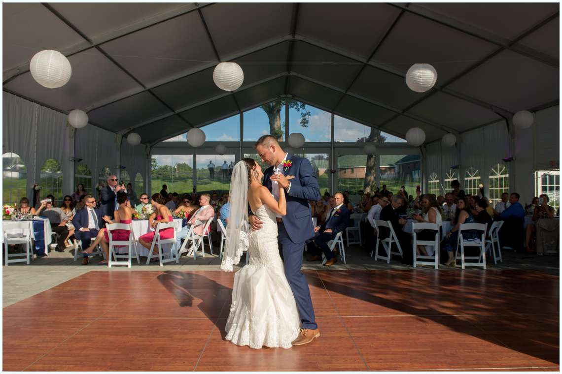 The Margate Wedding Reception with couple dancing