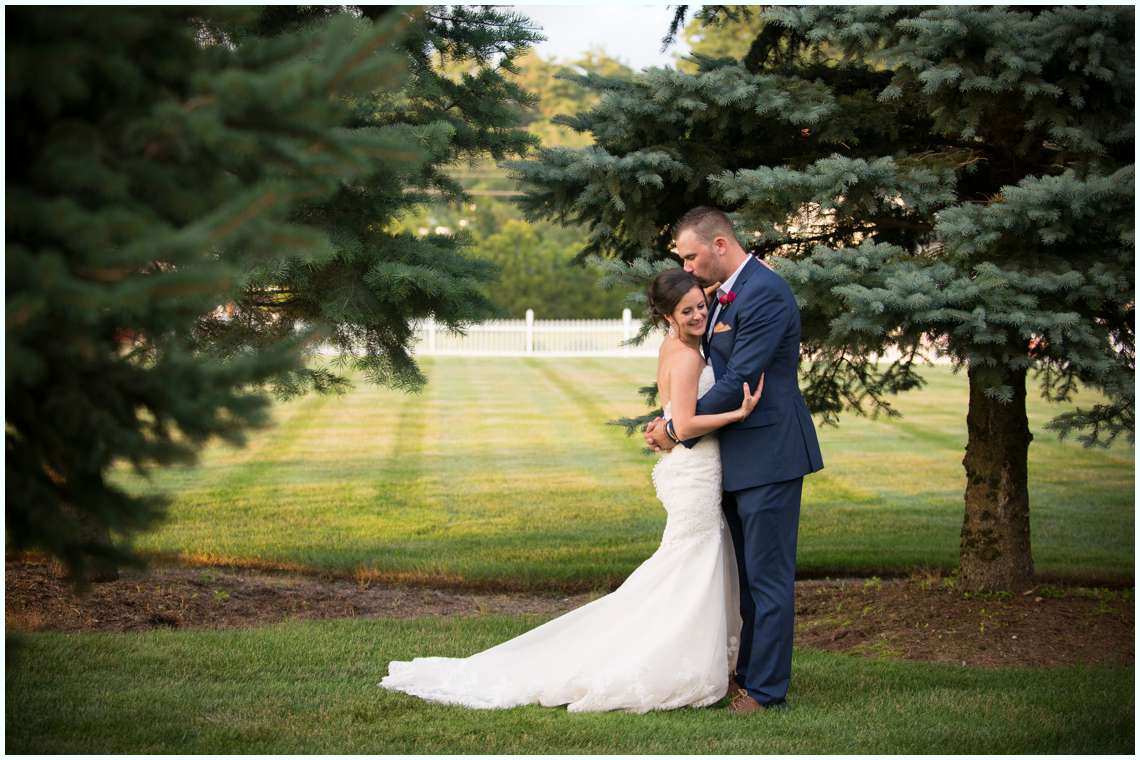 dreamy bride and groom photos with greenery