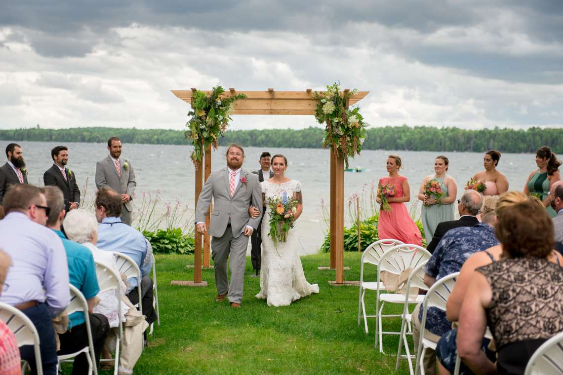Maine camp wedding in the summer