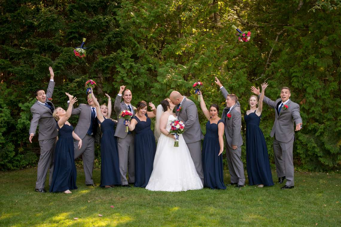 excited and fun bridal party photos