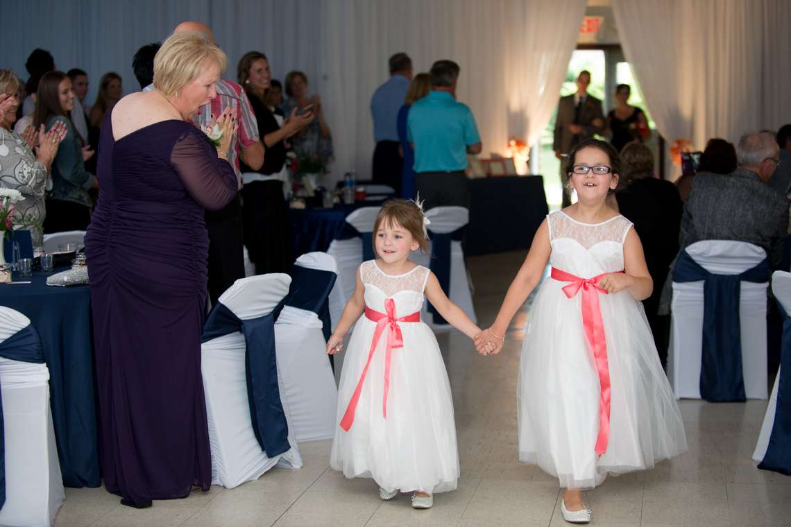 flower girls dresses with pink sash