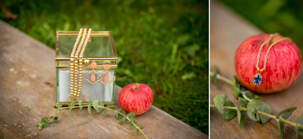 bridal wedding jewelry for apple orchard wedding