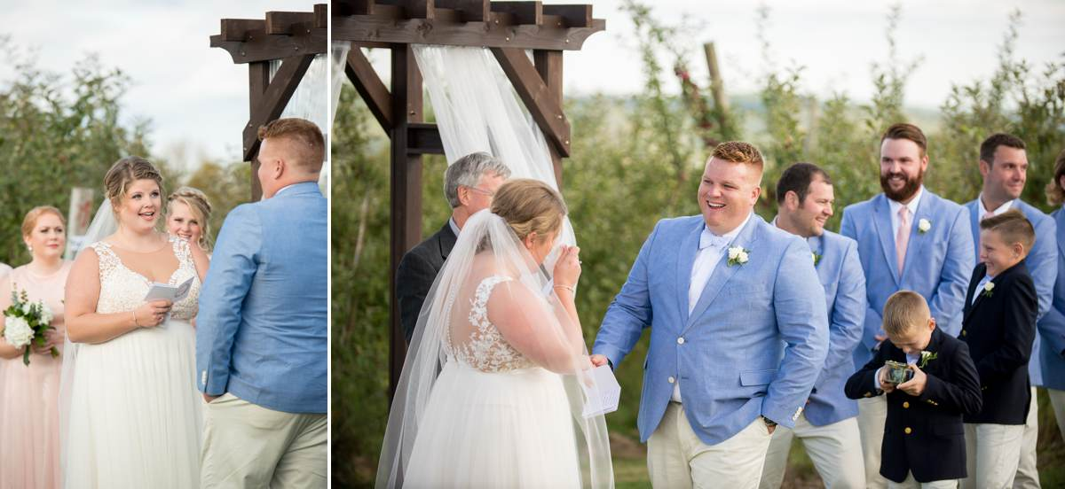 Maine Outdoor Wedding Ceremony at Vista of Maine Vineyard & Cidery